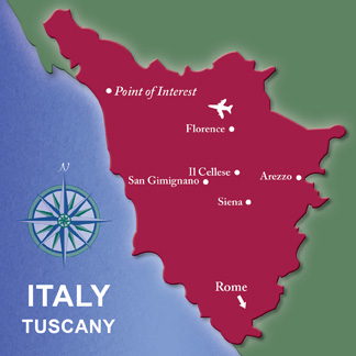 Tuscany Map Leisure Travel